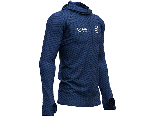 Compressport Ultra Trail 180g Racing UTMB 2019 Hoodie blue